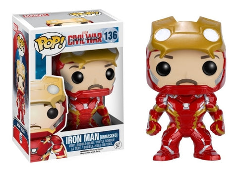 Funko POP! Civil War Iron Man Unmasked 136