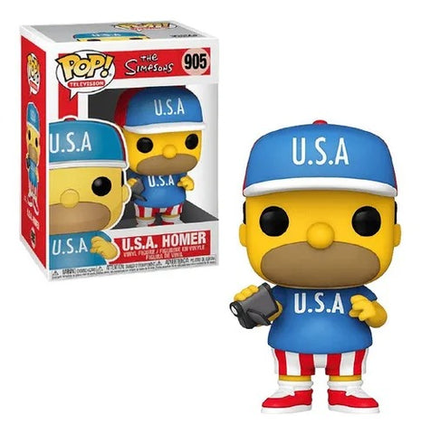 Funko POP! Television The Simpson U.S.A Homer 905