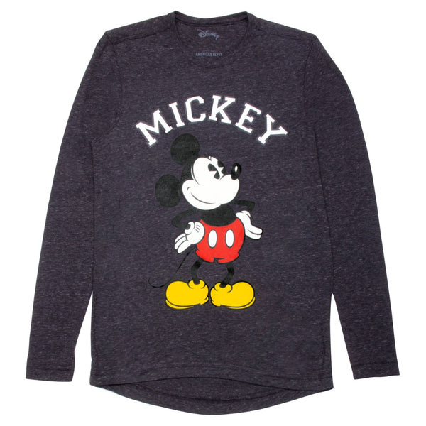 Disney Playera Manga larga de Mickey Oxford Hombre