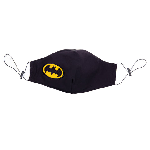 DC Comics Máscara Facial Logo Batman Bordado Negro Unisex