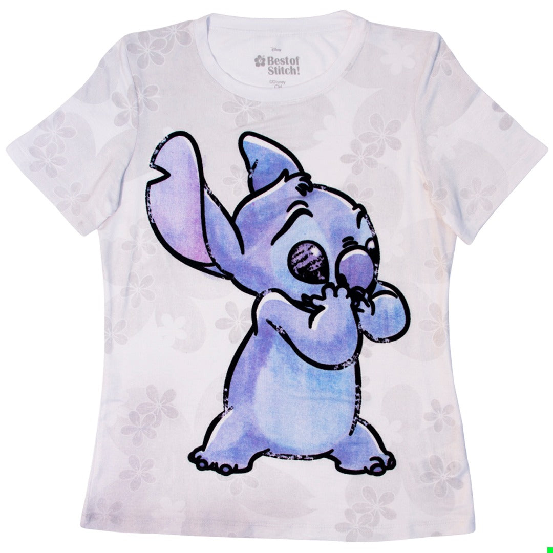Playera Stitch Flores