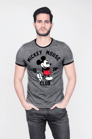 Disney Playera Mickey Mouse Club 1928 Oxford Hombre