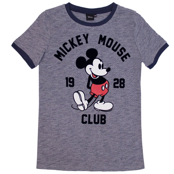 Disney Playera Mickey Mouse Club 1928 Azul Hombre