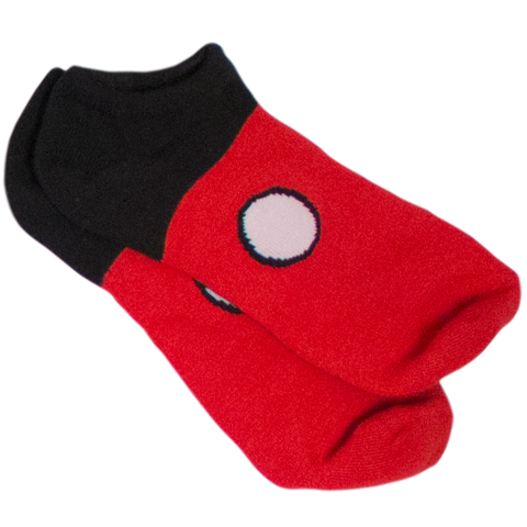 SOCKS MICKEY MOUSE RED