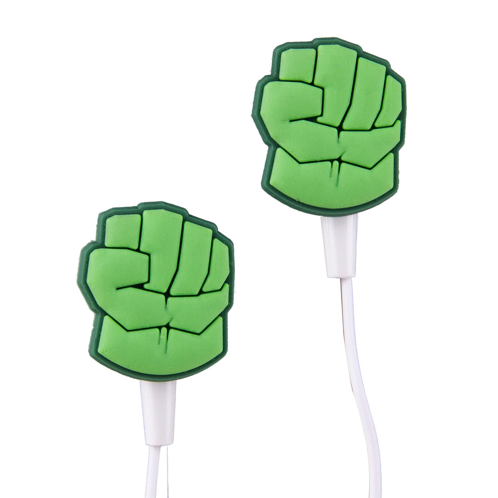 Marvel Audifonos Hulk´s fist verdes