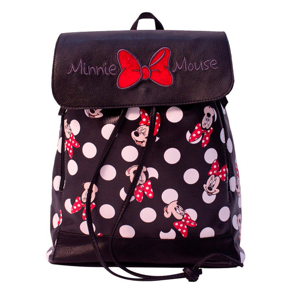 Disney Mochila de Minnie Mouse color negro