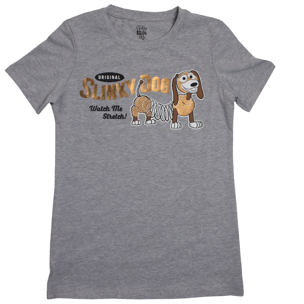 Disney Playera Slinky Dog Gris Dama