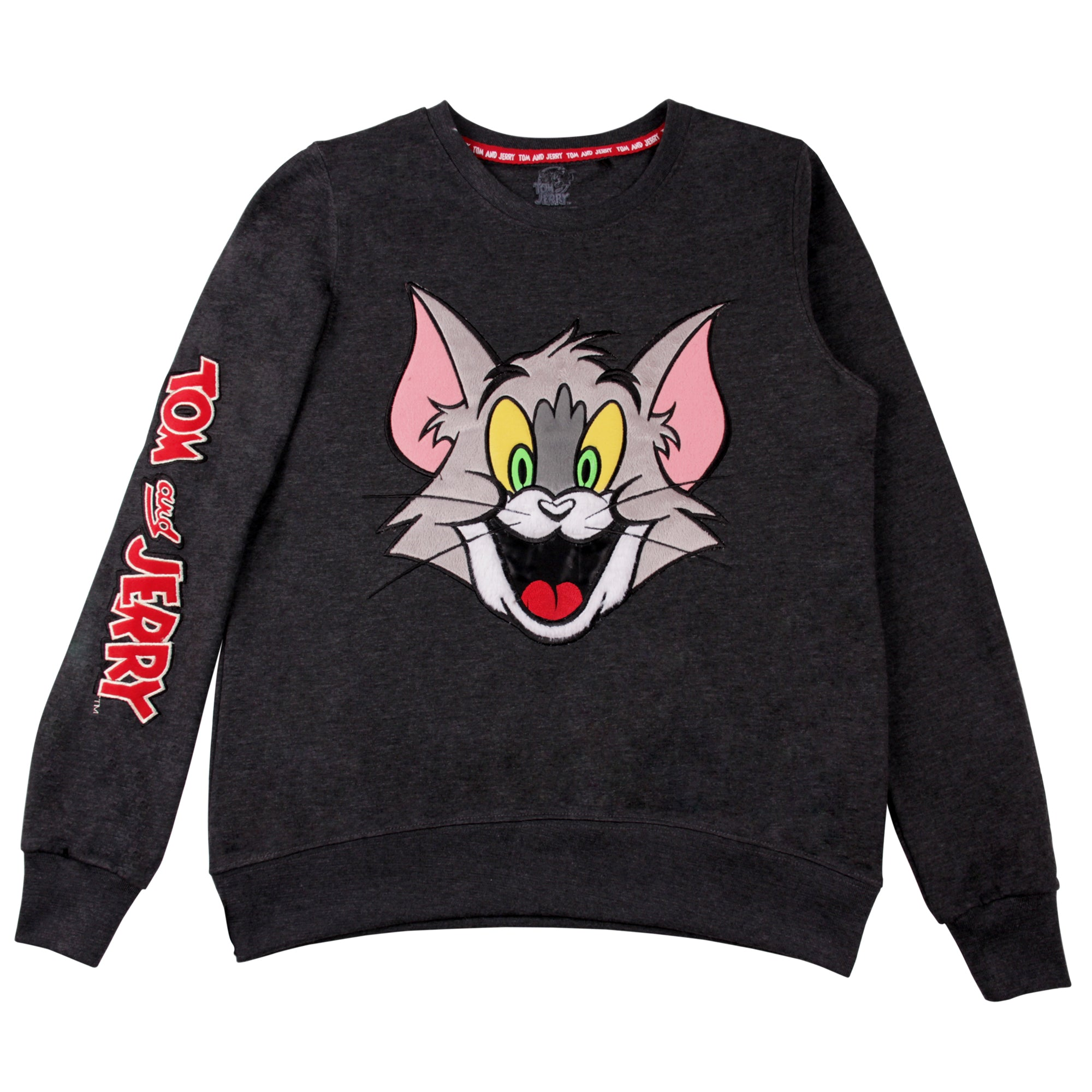 Tom y Jerry sudadera de manga larga Tom y Jerry bordado 3D mujer