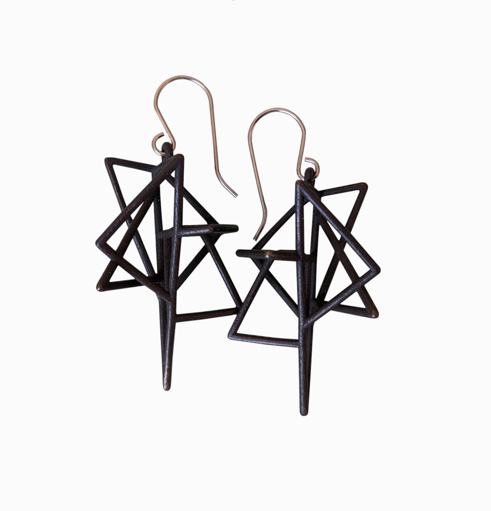 Polygon Cage Earrings
