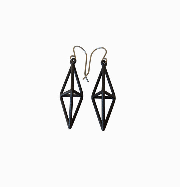 Dipyramid Earrings