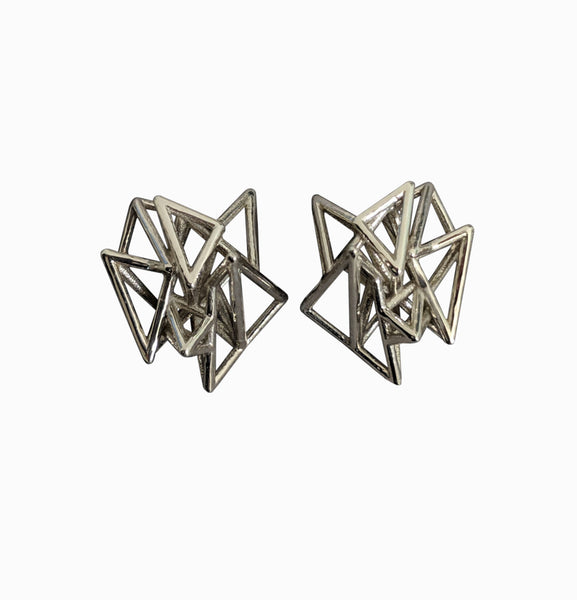 Pyramid Cage Earrings