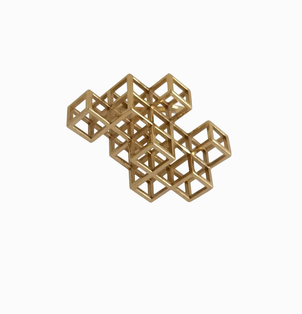Cube System Ring - Brass