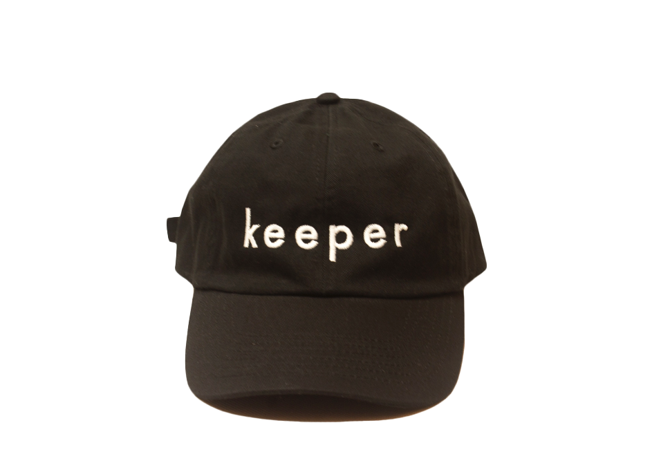 """KEEPER"" DAD CAP (BLACK)"