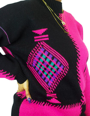 Neon Aztec Sweater
