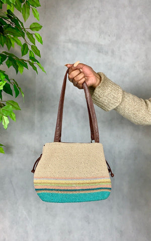Knit Striped Handbag