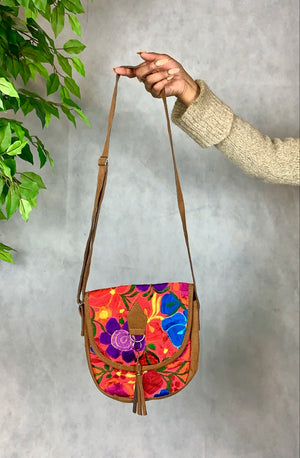 Floral Embroidered Shoulder Bag