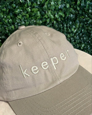 """KEEPER"" DAD CAP (KHAKI)"