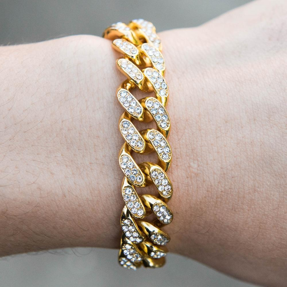 Iced Cuban Bracelet - (2 Color Options)