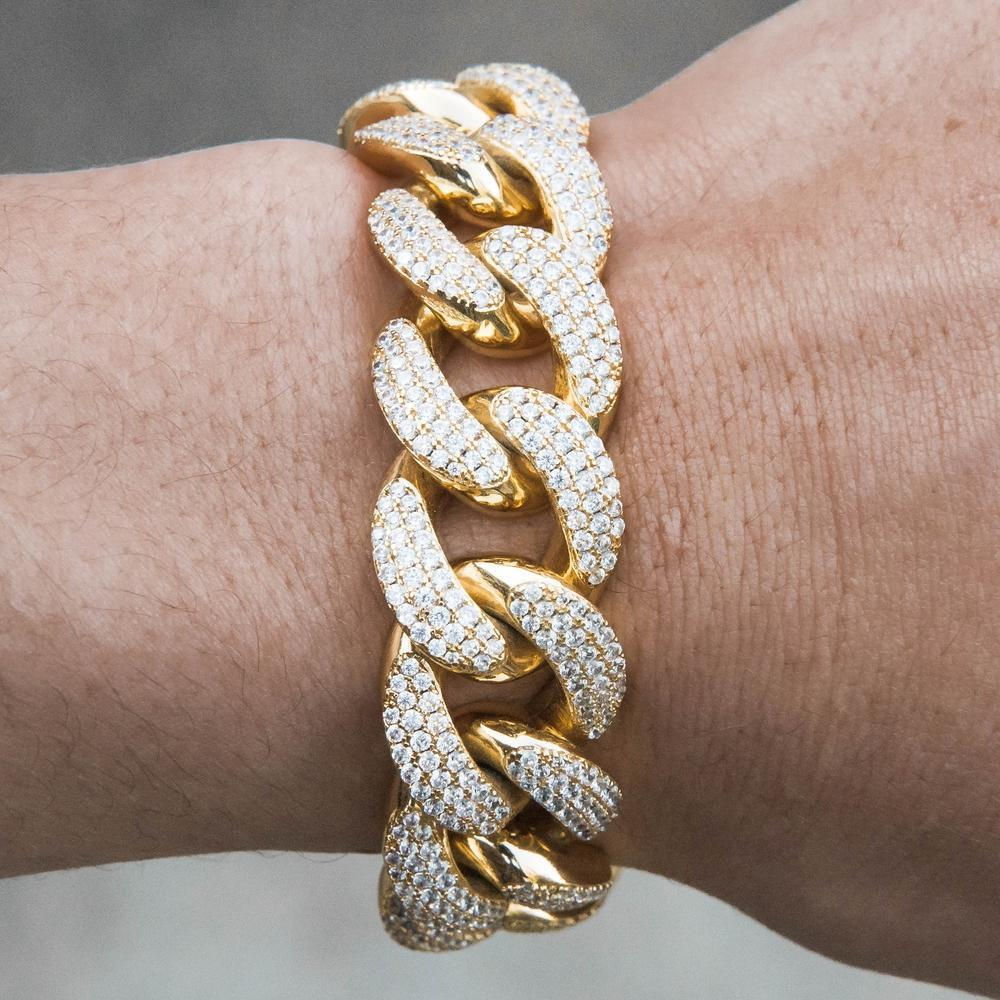 Premium Iced 18mm Cuban Bracelet - (3 Color Options)