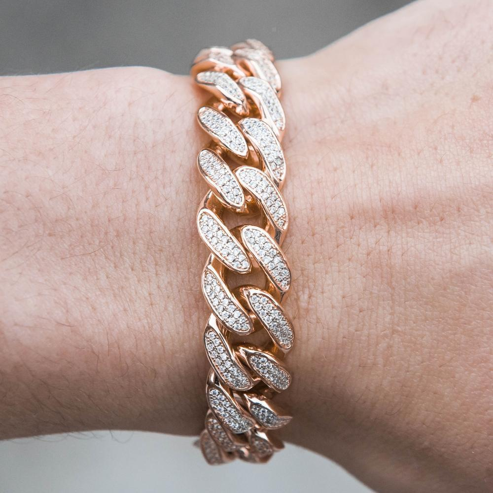 Premium Iced 12mm Cuban Bracelet - (3 Color Options)