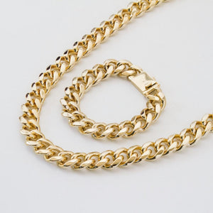 *CLEARANCE* Cuban Chain and Bracelet - 18mm