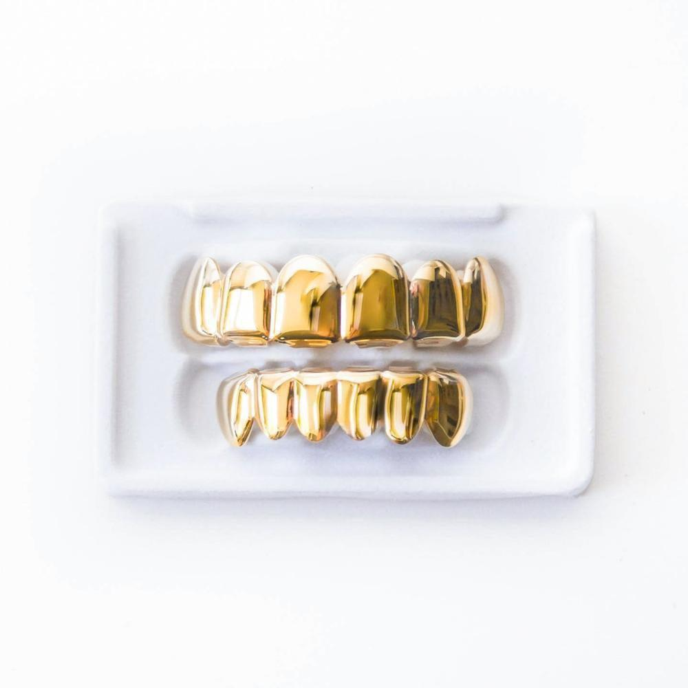 Gold Grillz - 6 Row - (3 Color Options)
