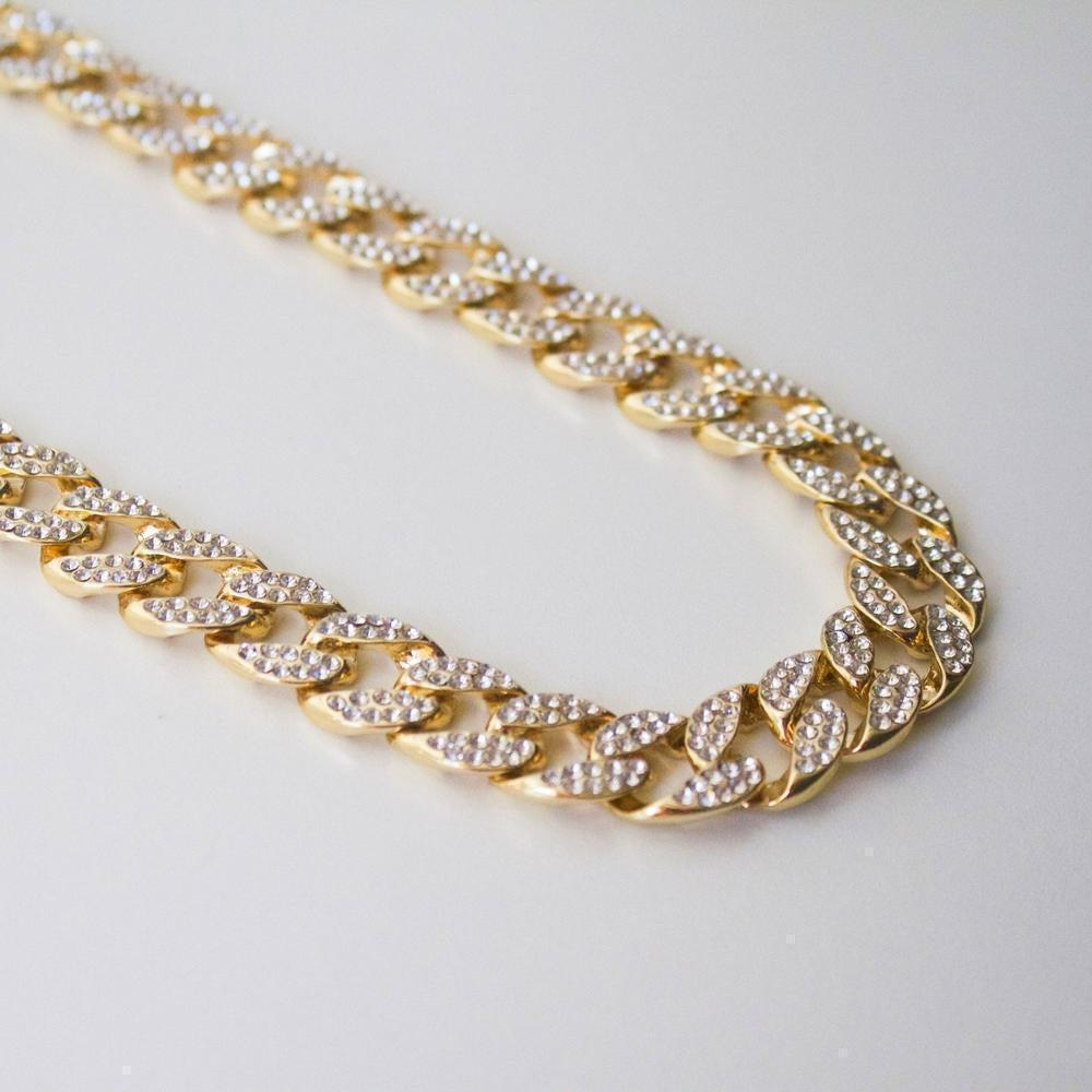 Flat Iced Cuban Chain - (2 Colors) *SALE*