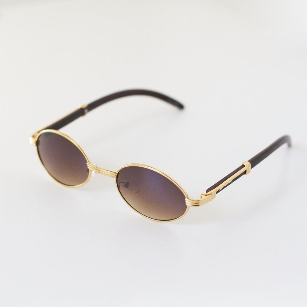 *CLEARANCE* Vintage Frames - Amber - (Gold/White Gold)
