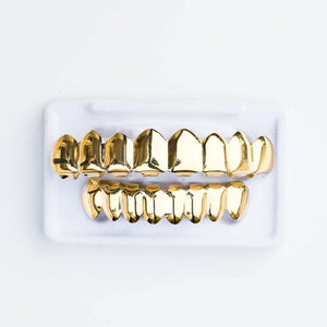 Gold Grillz - 8 Row - (Gold/White Gold/Rose Gold)