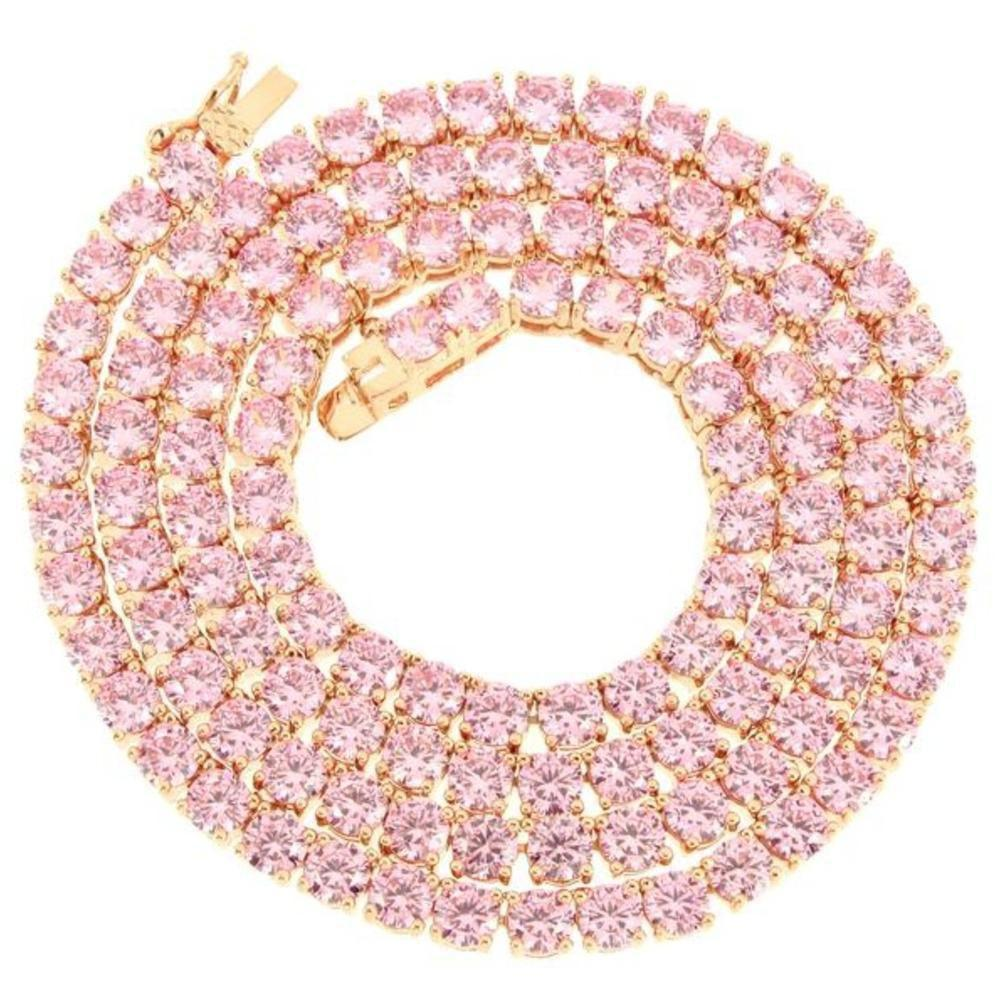 4mm Pink Premium Tennis Chain