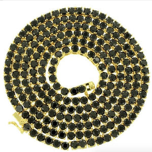 Black 4mm Premium Tennis Chain *CLEARANCE*