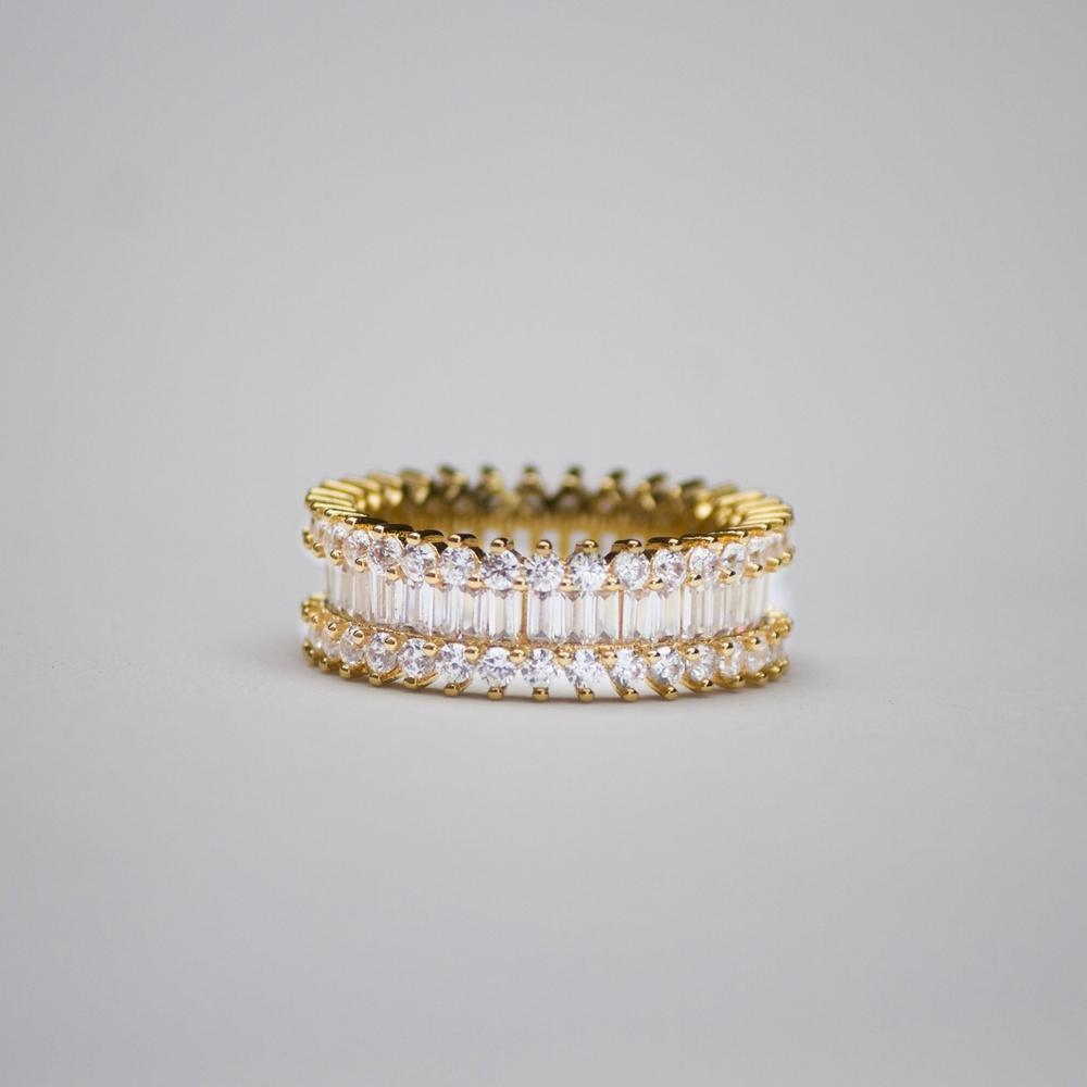 Baguette and Round Cut Eternity Ring - (Gold/White Gold) *Limited Edition*