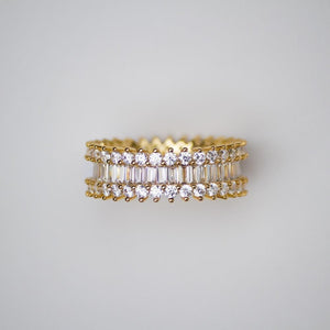 Baguette and Round Cut Eternity Ring - (2 Color Options) *SALE*