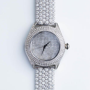 *SALE* Cluster Band Watch - (White Gold)
