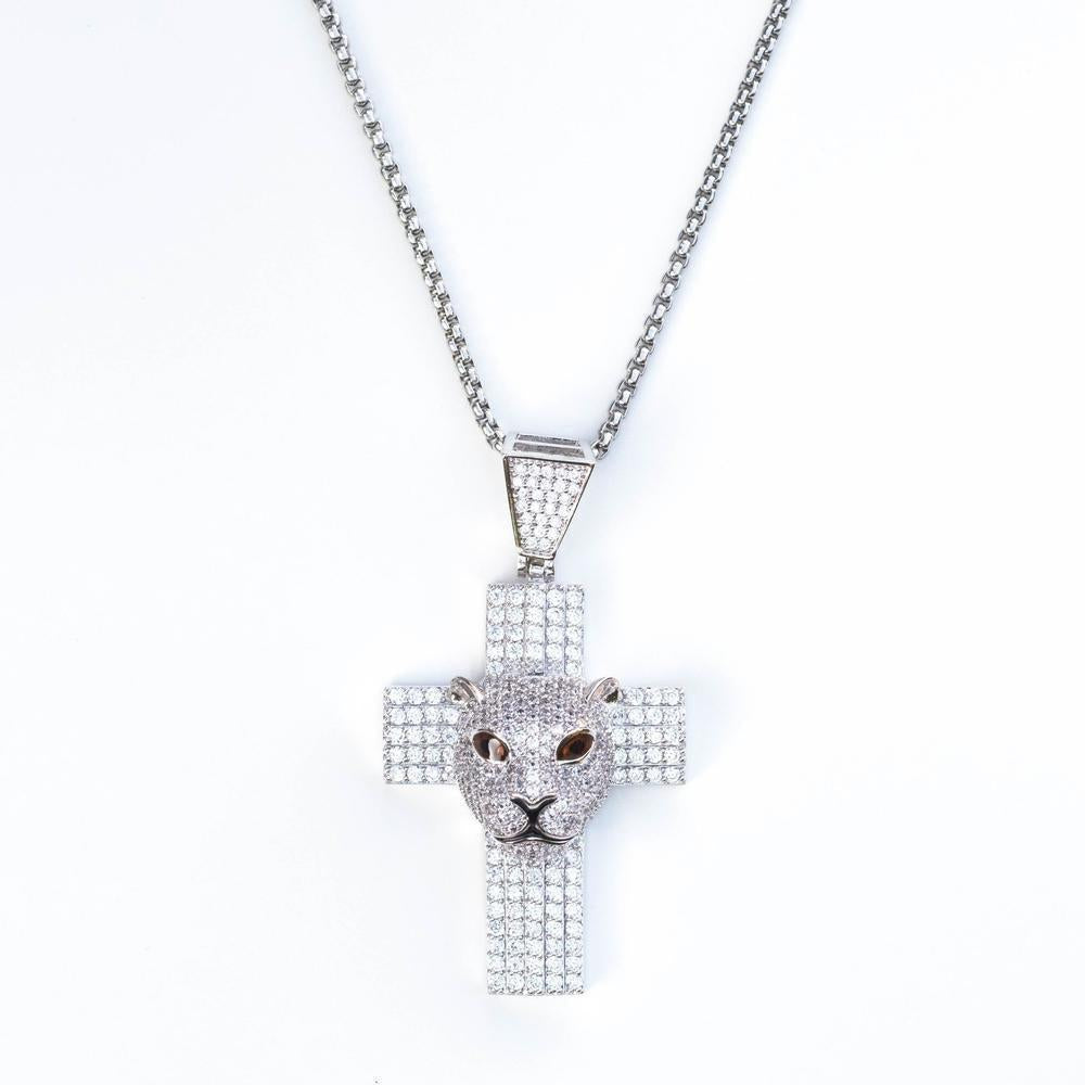 *CLEARANCE* Premium Iced Panther Cross - (2 Color Options)