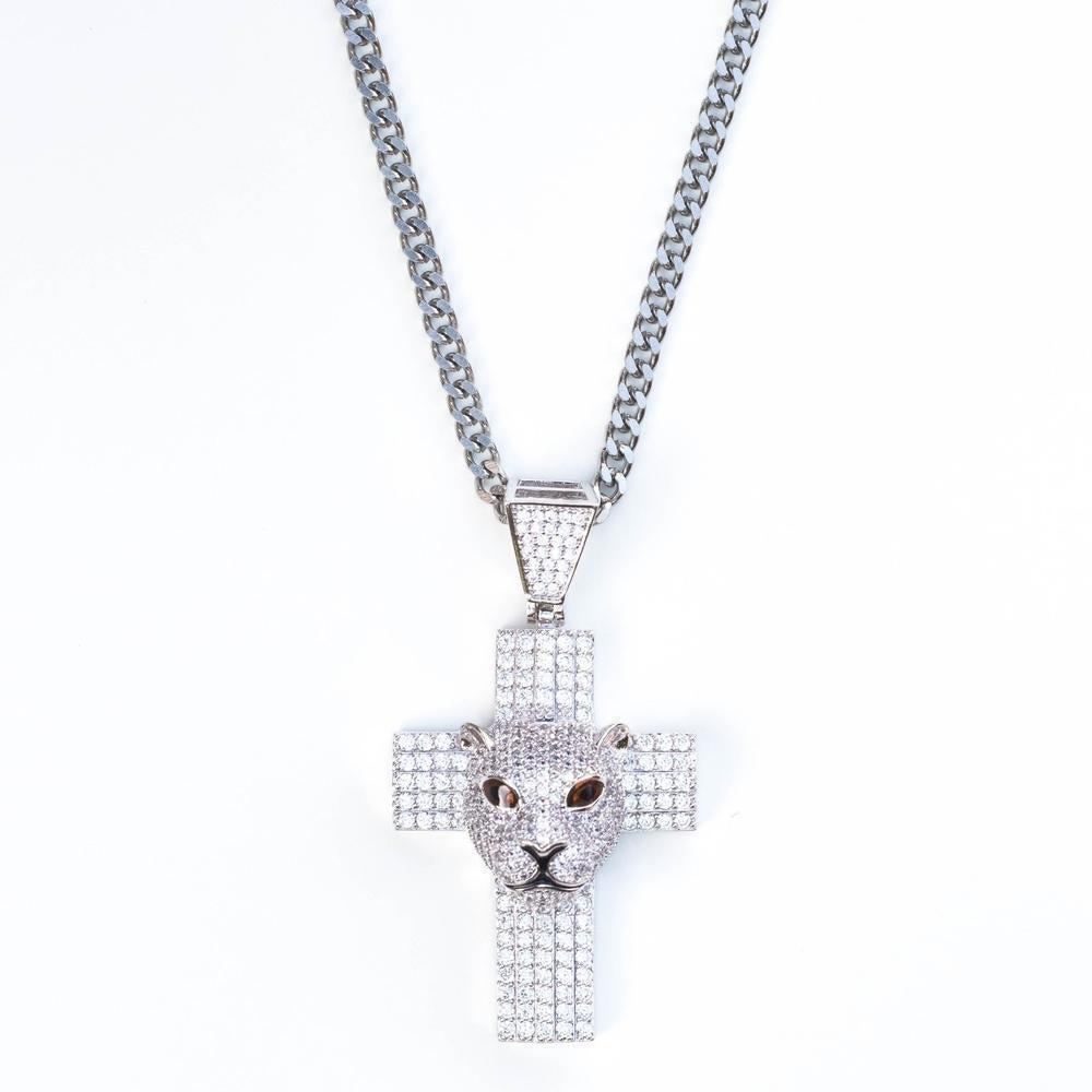 *SALE* Premium Iced Panther Cross - (2 Color Options)