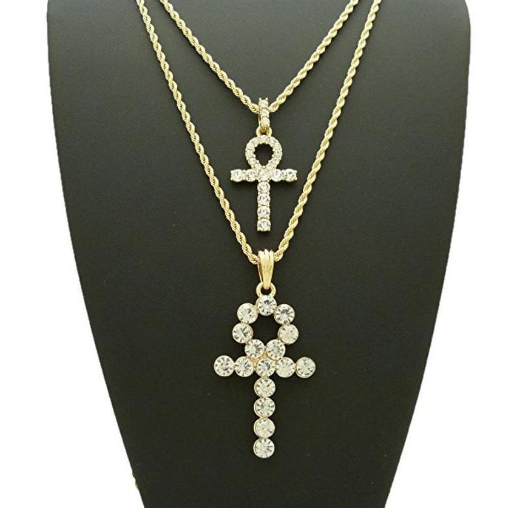 Iced Ankh + Stone Ankh Set *SALE*