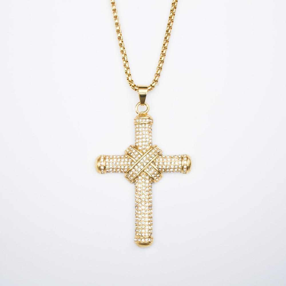 *CLEARANCE* Iced Large Cross - (2 Color Options)
