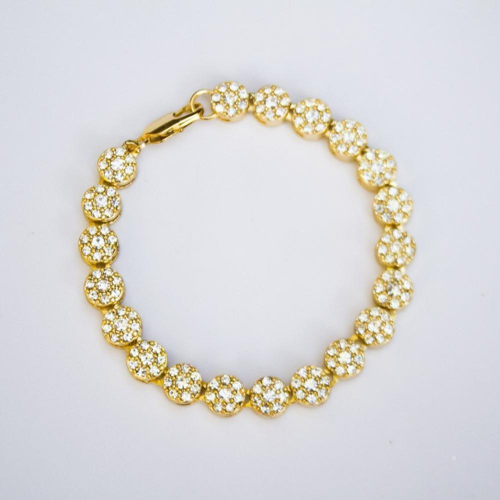 *CLEARANCE* Iced Sunflower Bracelet - (2 Color Options)