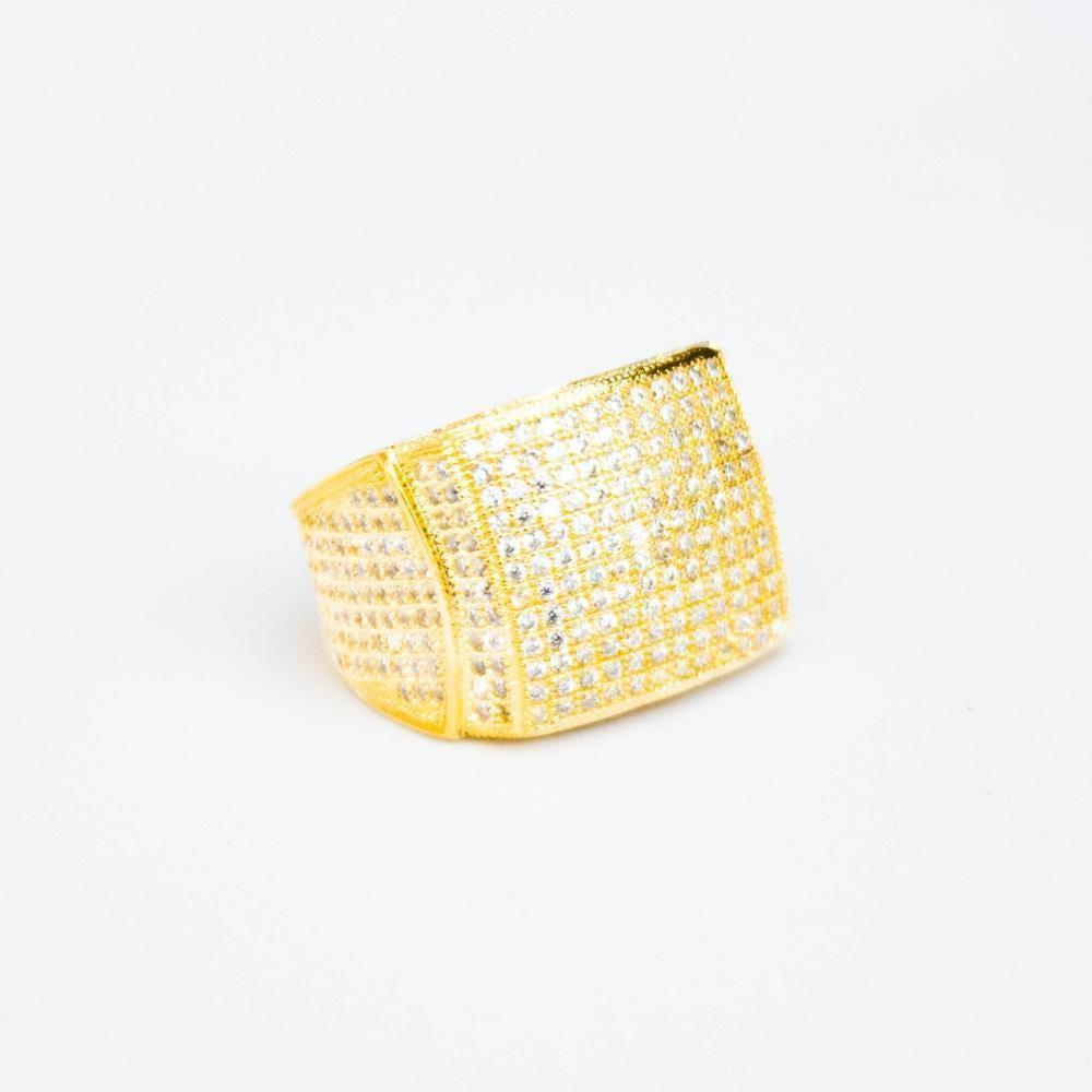 Premium Fully Iced Square Ring - (2 Color Options)