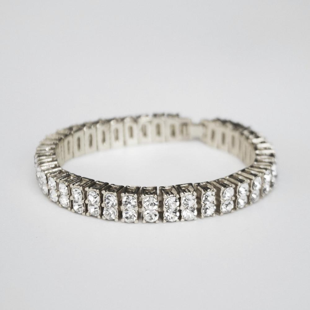 2 Row Iced Tennis Bracelet - (2 Color Options) - *SALE*