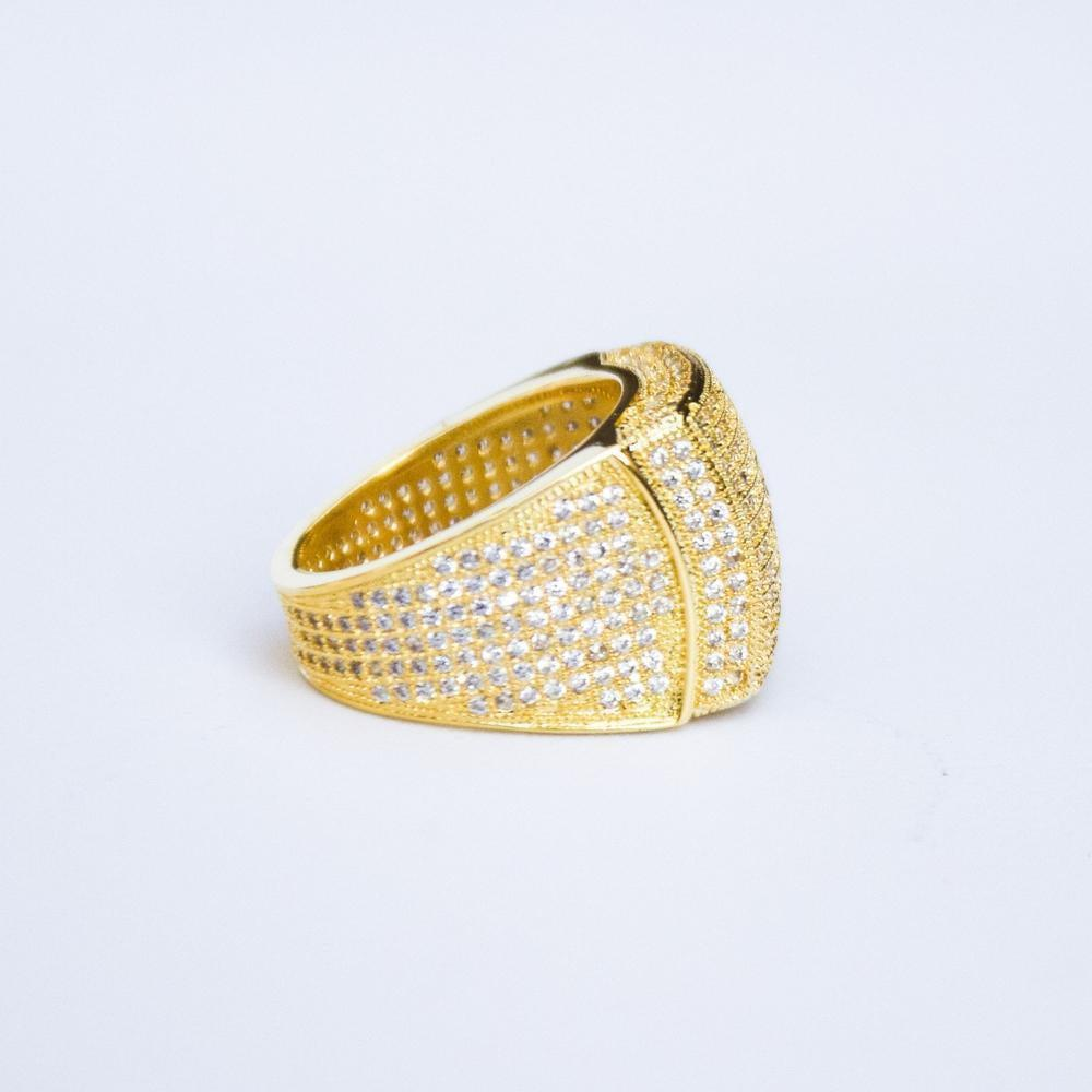 Premium Fully Iced Square Ring - (Gold/Silver)