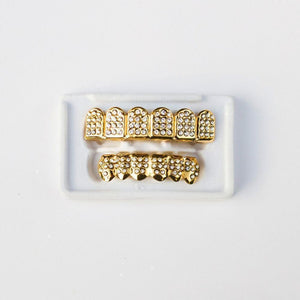 *CLEARANCE* Gold Iced Grillz