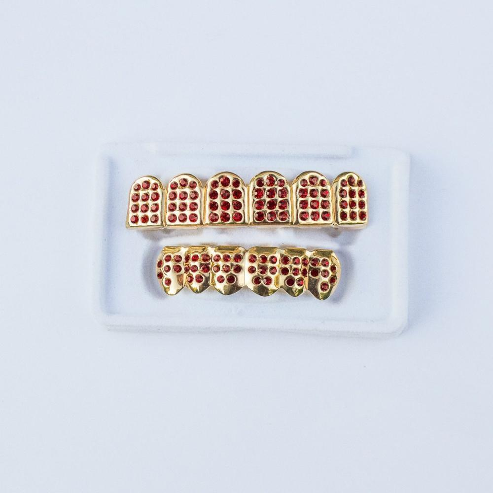 *CLEARANCE* Gold Iced Ruby Grillz