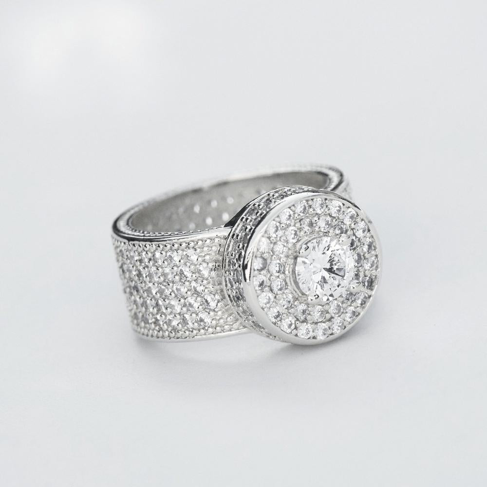 Fully Iced Cluster Ring - (2 Color Options) *SALE*