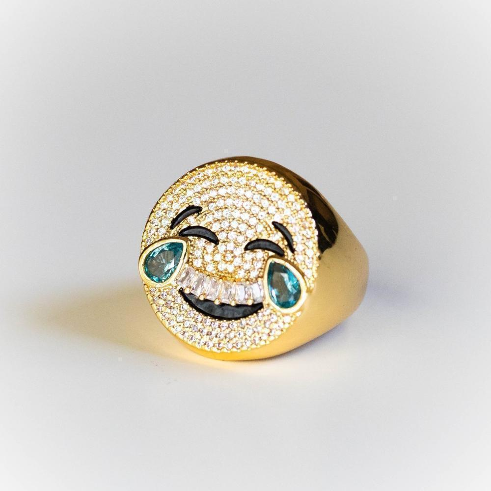 Laughing Emoji Ring - (2 Color Options)