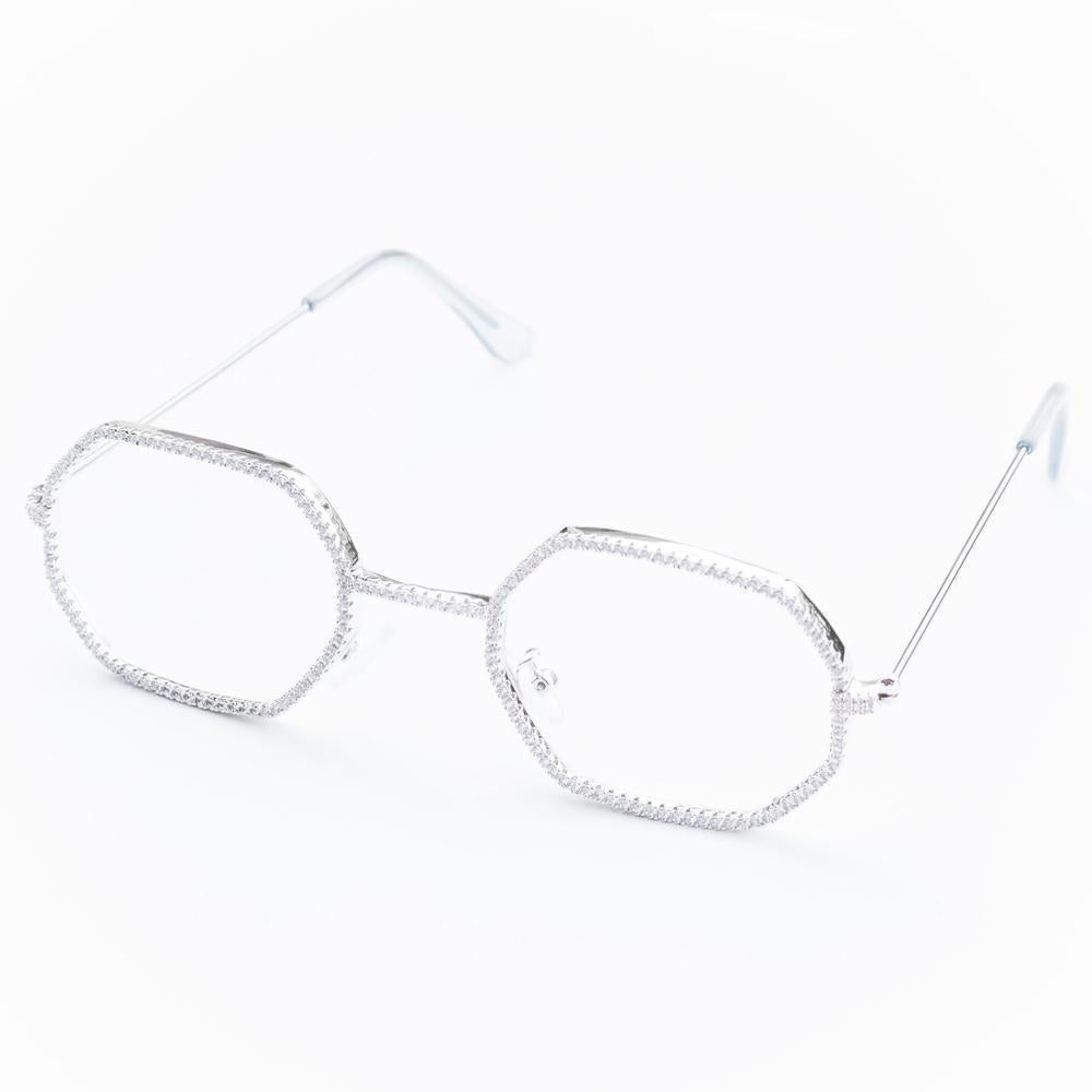 Octagon Iced Glasses - (2 Color Options)