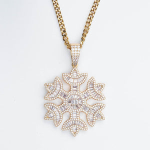 Premium Baguette Snowflake - (Gold/White Gold/Rose Gold)
