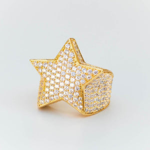 Premium Fully Iced Star Ring - (2 Color Options)