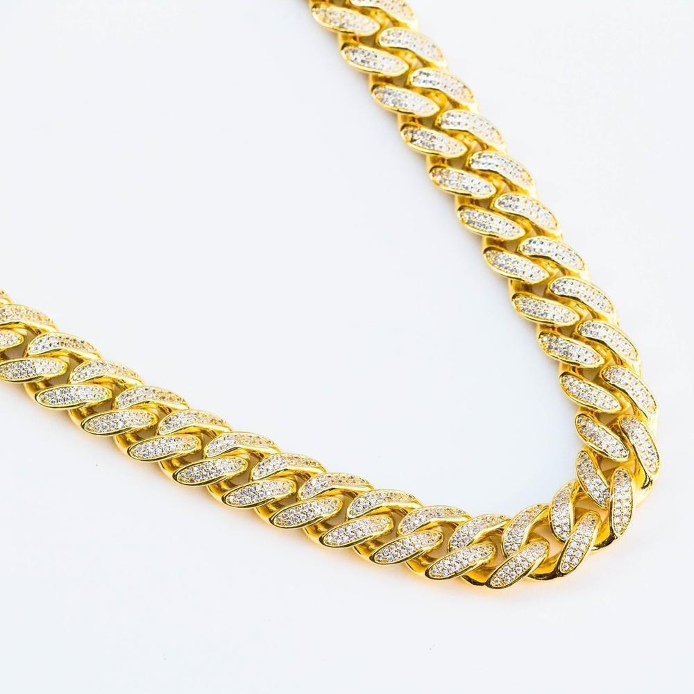Premium Iced 12mm Cuban Chain - (3 Color Options)